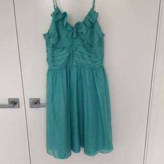 Review Sz 8 Aqua Dress