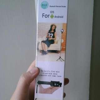 韓國熱銷多功能藍芽摺疊自拍桿三腳架