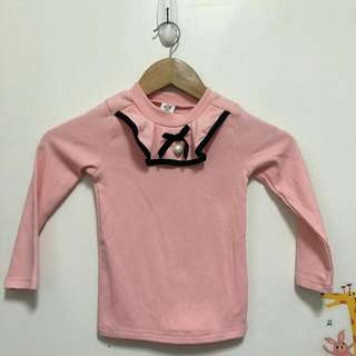 全新童裝✨粉色薄長袖7號