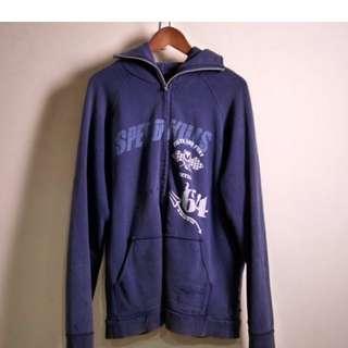 NEIGHBORHOOD 藍色仿舊連帽外套 破壞設計 (日本製)