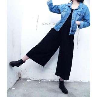 🚚 質感壓摺寬褲裙/全新現貨