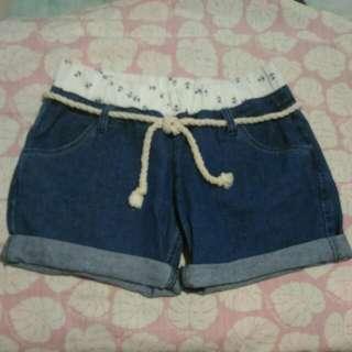 海洋風牛仔短褲