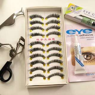 Handmade False Eyelashes/falsies One Box #D02