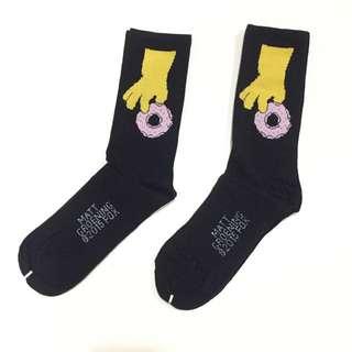 翻玩 辛普森 甜甜圈 襪 ( 小腿 襪 )