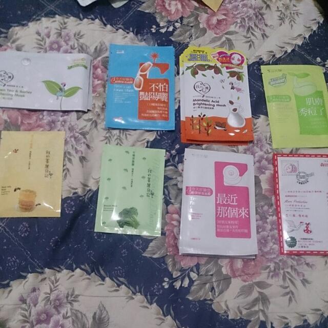 面膜(我的心機、我的美麗日記、雪芙蘭、森田藥妝)