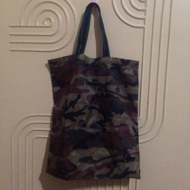 ✋🏻二手✋🏻迷彩購物袋