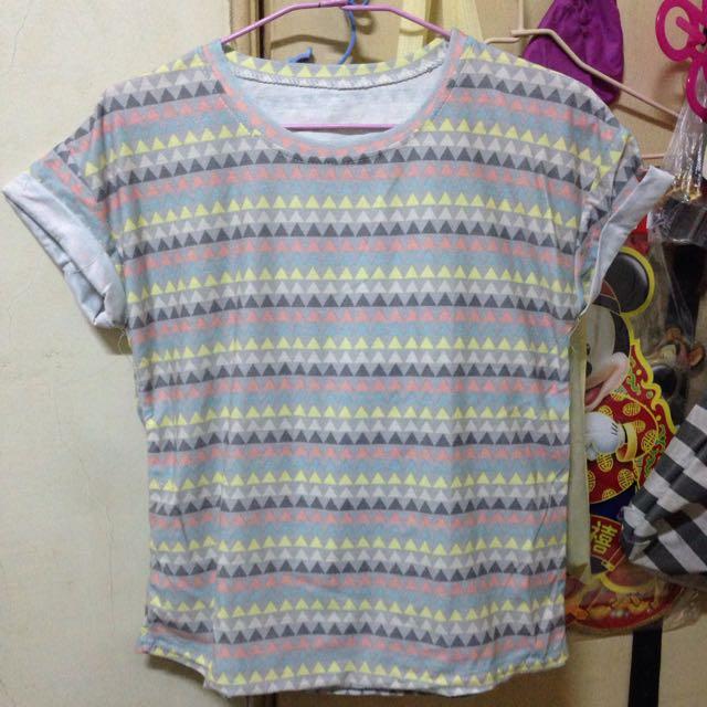 韓版彩色棉質上衣