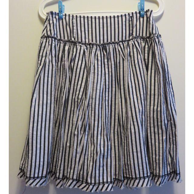 【降價】二手。黑白線條裙子