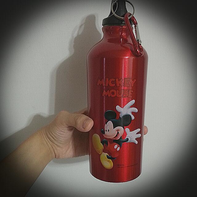 米老鼠 🐭 運動水壺 紅色米其有扣環