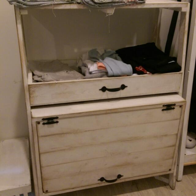 服飾店生財工具 鄉村風仿舊收納櫃