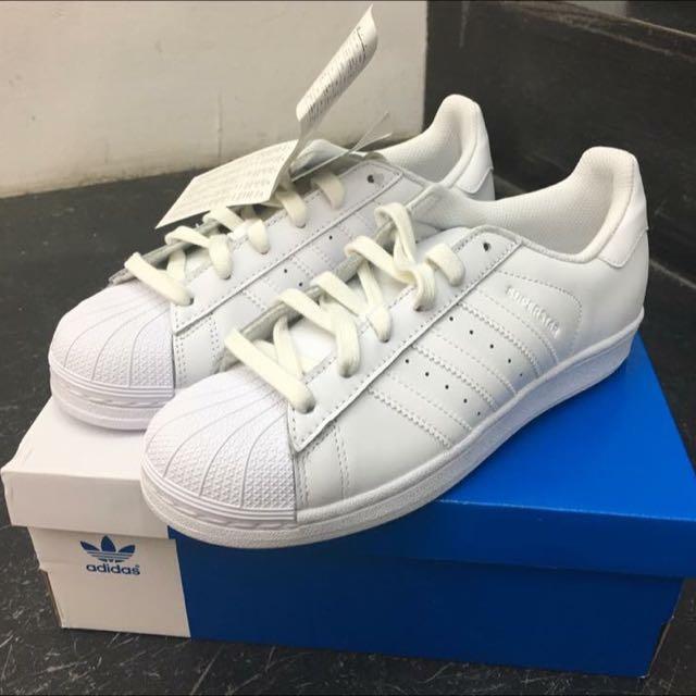Adidas Superstar 全白 23.5cm 5號半