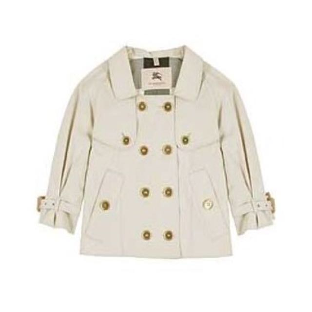Authentic Burberry Double Breasted Cropped Marrick Trench