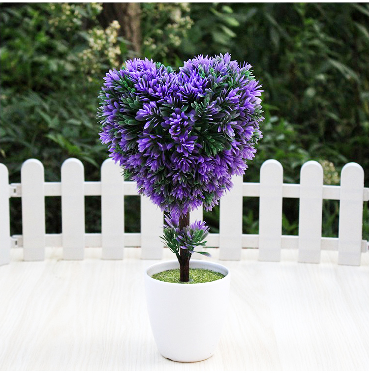 Bunga Artificial Pohon + Love Ungu / Artificial Tree Love + Vas Purple, Perabotan Rumah