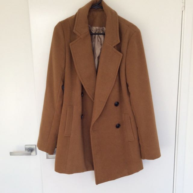 Caramel Winter Coat Sz8