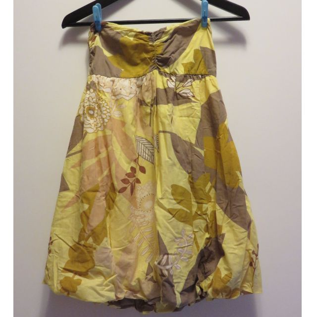 二手。平口洋裝也可當裙子穿(F碼)