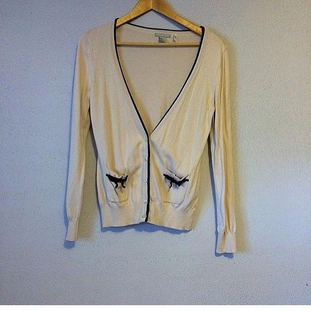 H&M Bow Cardigan