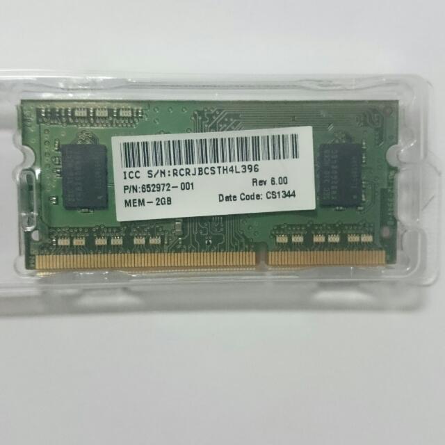 LAPTOP MEMORY 2G DDR2 RAM - 筆記本內存2G DDR2 Ram