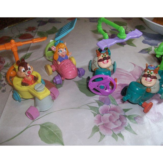 mcdonald s chipmunks rescue rangers set of 4 toys games on carousell