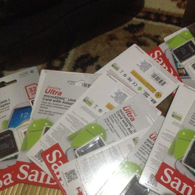 Micro Sd Sandisk 32GB Class 10
