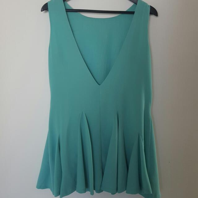 Mint Green Low Back Dress
