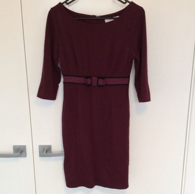 Moroon 3/4 Sleeve Dress Sz 6-8