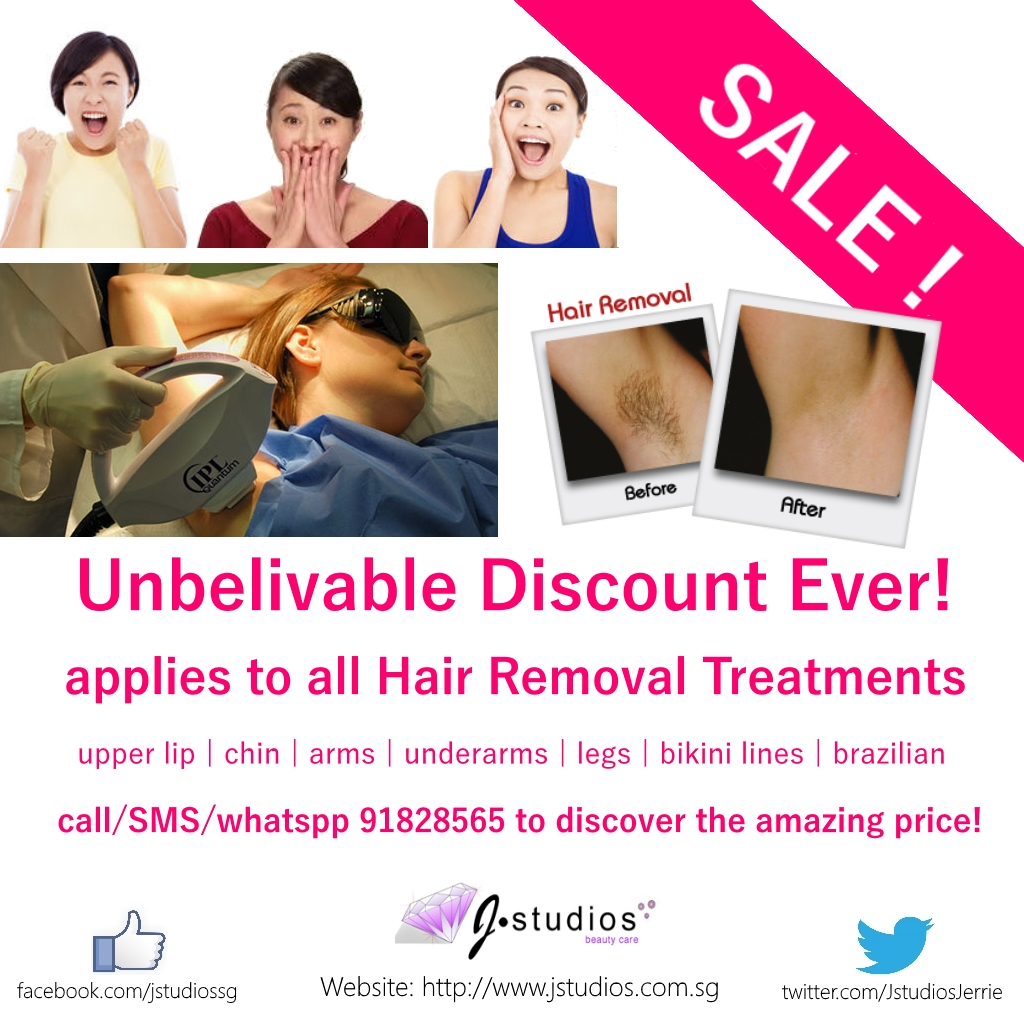 No more waxing and shaving! Go for IPL Permanent Hair Removal Now! We offer Unbelivable Discount