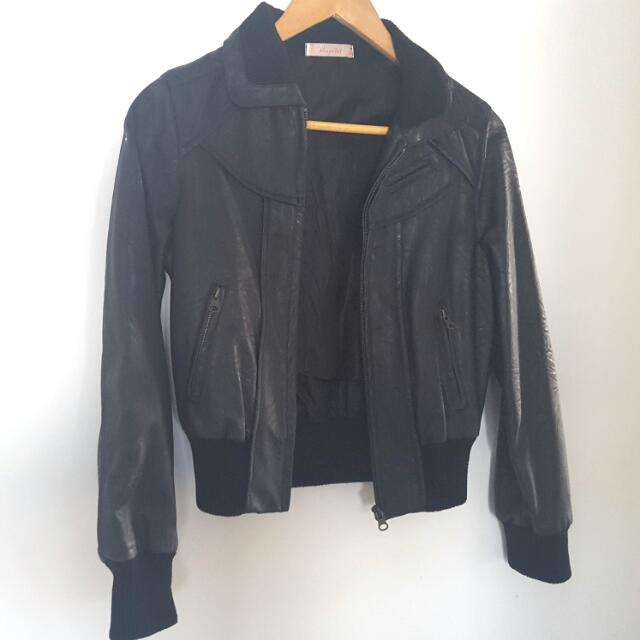 Pleather Crop Jacket