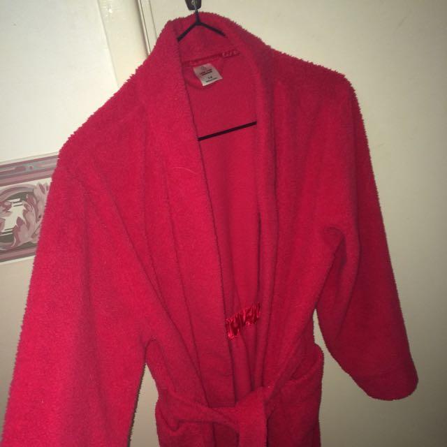 Red Fluffy Robe