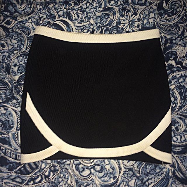 Tigermist Black And White Skirt