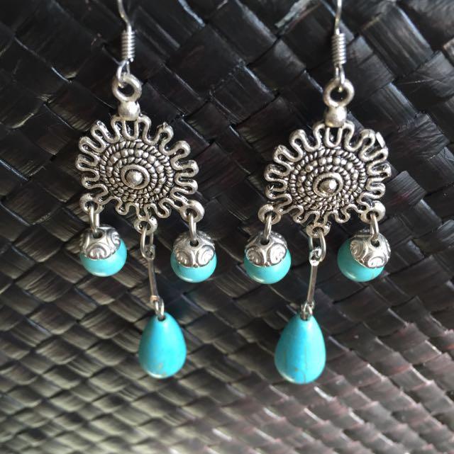 Turquoise Look Earrings