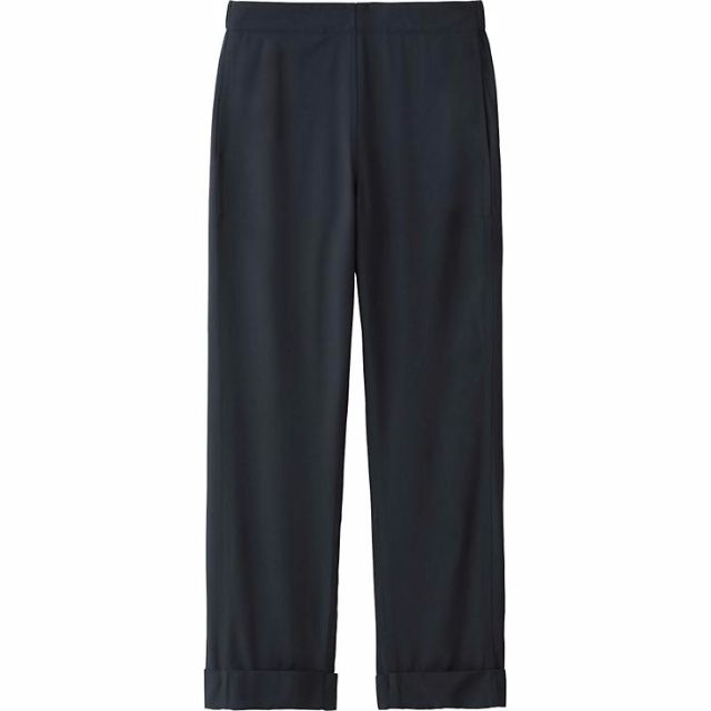 673f4949d464f UNIQLO x LEMAIRE Wide Leg Rayon Pants in Black