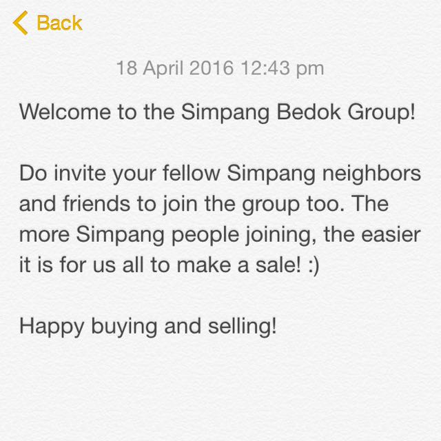 Welcome To The Simpang Bedok Group!