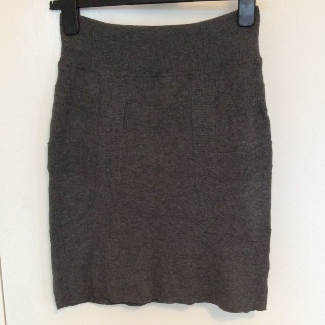 Witchery Woollen Blend Grey Skirt Sz M