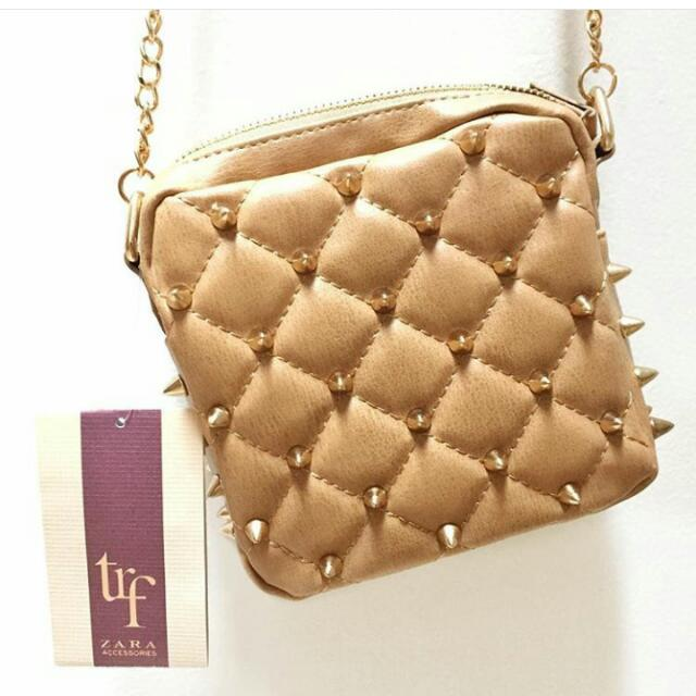 Zara TRF Studded Chain Sling Bag