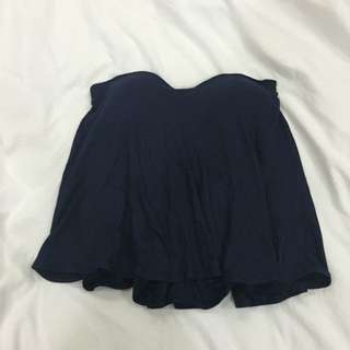 (PENDING) BN Navy Blue Bustier Flowy Tube Top