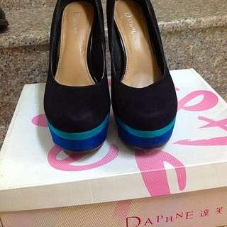 降✨$300 達芙妮23.5厚藍底高跟#Daphne