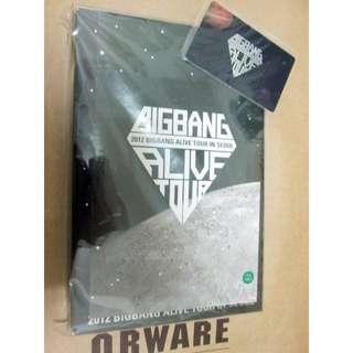 出清 官方演唱會 2DVD 附YG卡海報 BIGBANG BIG BANG 寫真 2012 AliveTour Live