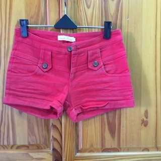 紅色短褲(m)