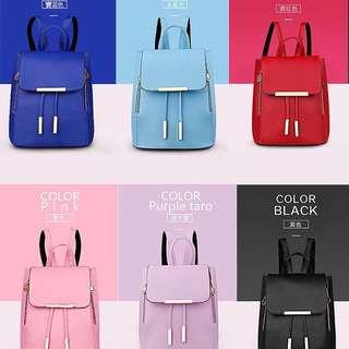 韓風後背包9色 價格:$370 顏色:如圖 長23寬16高28提把9