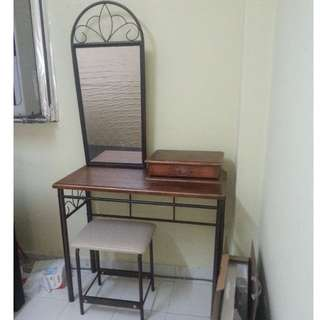 Simple dressing table with stool