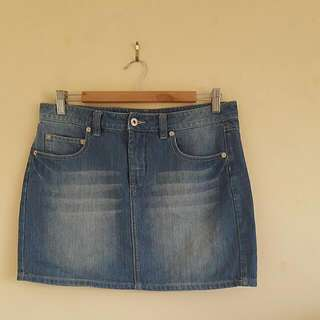 (Size 10) Countryroad Light Denim Skirt