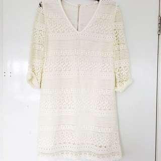 SEE U SOON Beige Lace Dress / Size 6/8