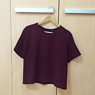 Forever21 Japan Red Wine Blouse