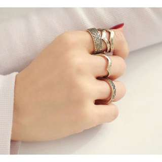 (NEW)Silver Multi Layer Ring