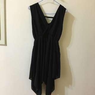 垂墜感黑色紗裙