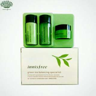 INNISFREE Green Tea Balancing Special Kit 3 items  (for normal to combination skin)