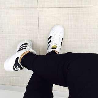 Adidas Superstar 金標 22.5