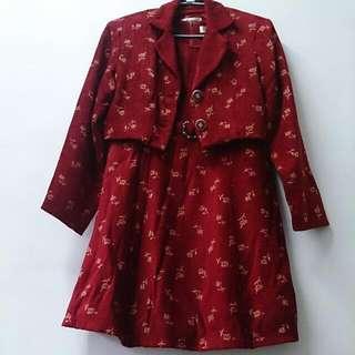 兩件式紅小禮服