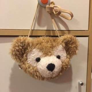 Disney購入 Duffy達菲熊 大頭側背小包 全新
