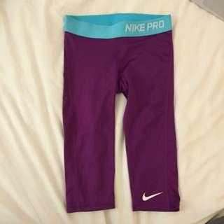 Nike Pro Pants In Purple
